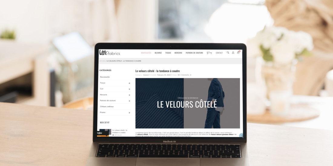 Rédaction web article couture